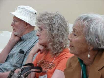 Bob Anderso, Norma Canfield & Eloina Borrero (Chile & Korea)